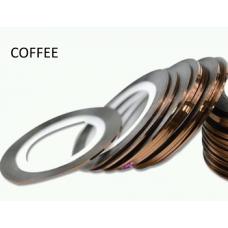 Липкая лента для дизайна ногтей кофе Coffee 1мм