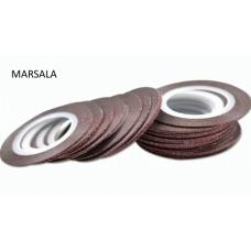 Лента бархатная для дизайна ногтей марсала MARSALA, 1 мм