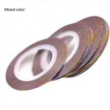 Лента бархатная для дизайна ногтей Mixed color, 1 мм
