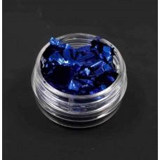 Фольга жатая для ногтей синяя