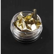 Фольга жатая для ногтей светлое золото