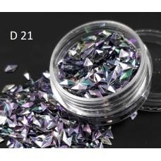 Чешуя дракона (3Д ромбы) для дизайна ногтей, D21