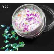 Чешуя дракона (3Д ромбы) для дизайна ногтей, D22