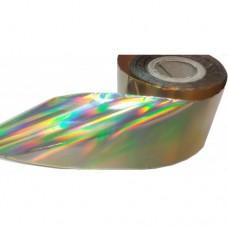 Фольга для литья золотой голографик 1 м. F04