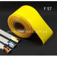 Фольга для дизайна ногтей матовая, жёлтая, 0.5м, F57