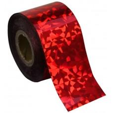 Фольга для литья красная голографик 1м. F06